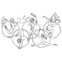desenho de barney nos jogos olímpicos para colorir tudodesenhos