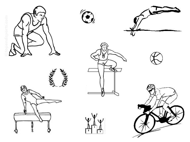 Desenho De Modalidades Dos Jogos Olimpicos Para Colorir Tudodesenhos