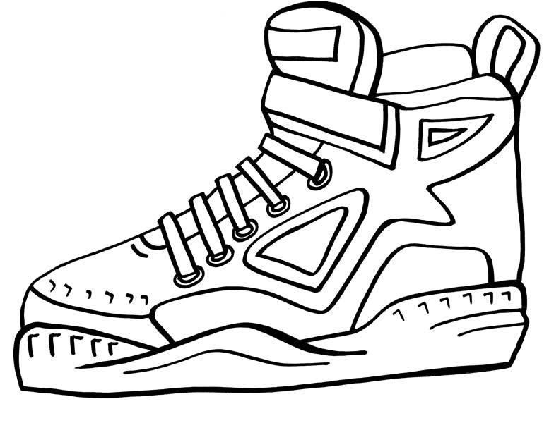 desenho de tênis de basquete para colorir tudodesenhos