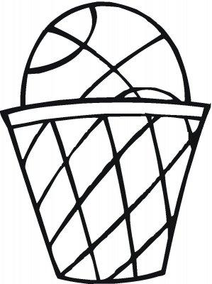 desenho de bola de basquete e cestinha para colorir tudodesenhos