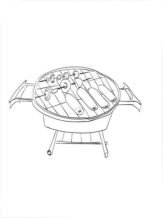 Muitas vezes Desenho de Carne na churrasqueira para colorir - Tudodesenhos QX93