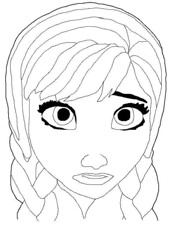 Desenho De Máscara De Anna Frozen Para Colorir Tudodesenhos