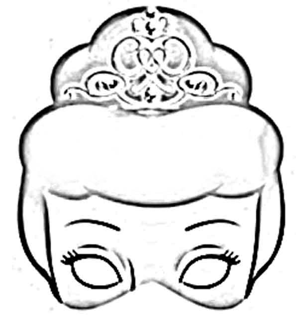 Desenho De Mascara Da Cinderela Para Colorir Tudodesenhos