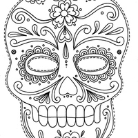 Desenho De Caveira Mexicana Halloween Para Colorir Tudodesenhos