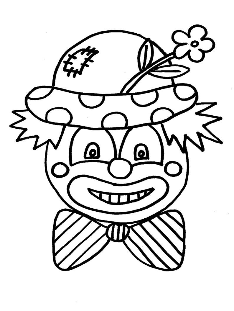 Desenho De Mascara De Palhaco Para O Dia Do Circo Para Colorir