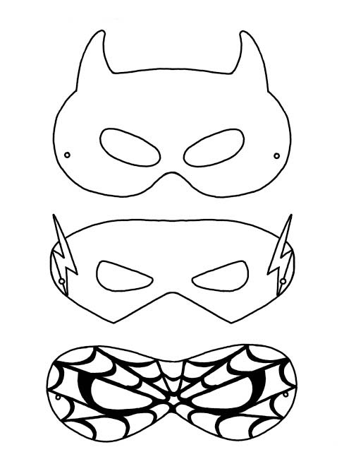 Desenho De Mascaras De Super Herois Para Colorir Tudodesenhos