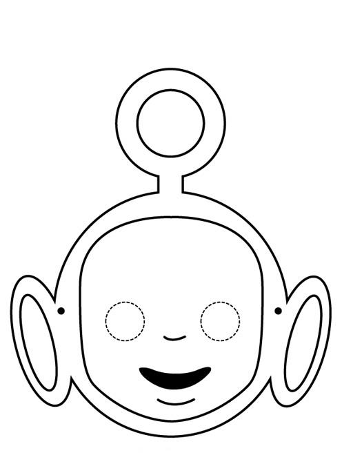 Desenho De Mascara Do Teletubbies Para Colorir Tudodesenhos
