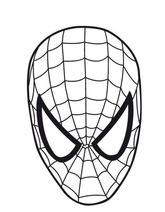 Desenho De Máscara Do Homem Aranha Para Colorir Tudodesenhos