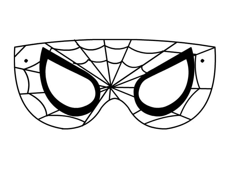 Desenho de m scara do spiderman para colorir tudodesenhos for Spiderman da stampare gratis
