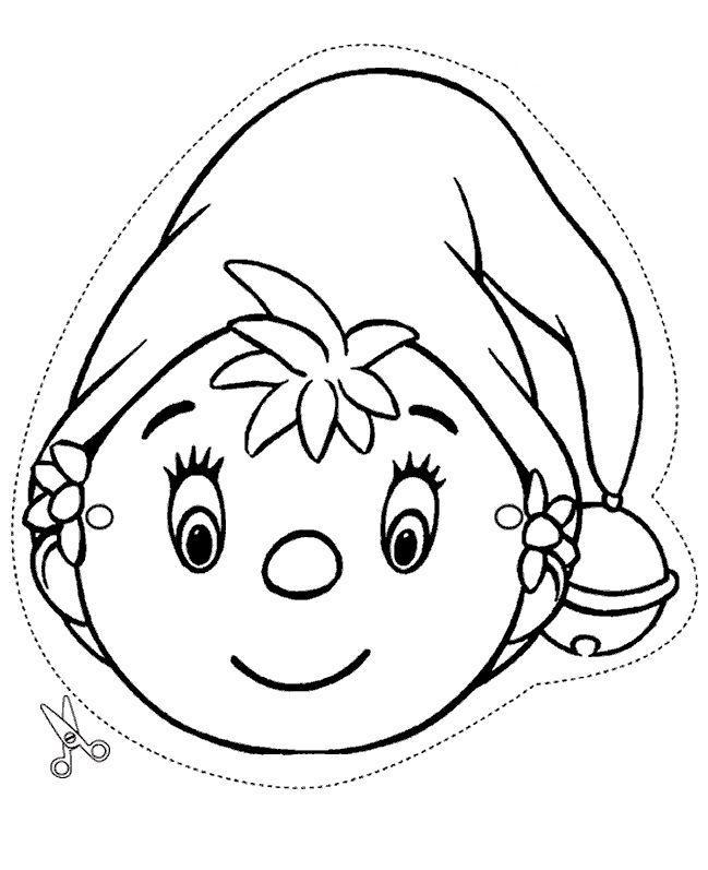 Desenho De Máscara Do Noddy Para Colorir Tudodesenhos