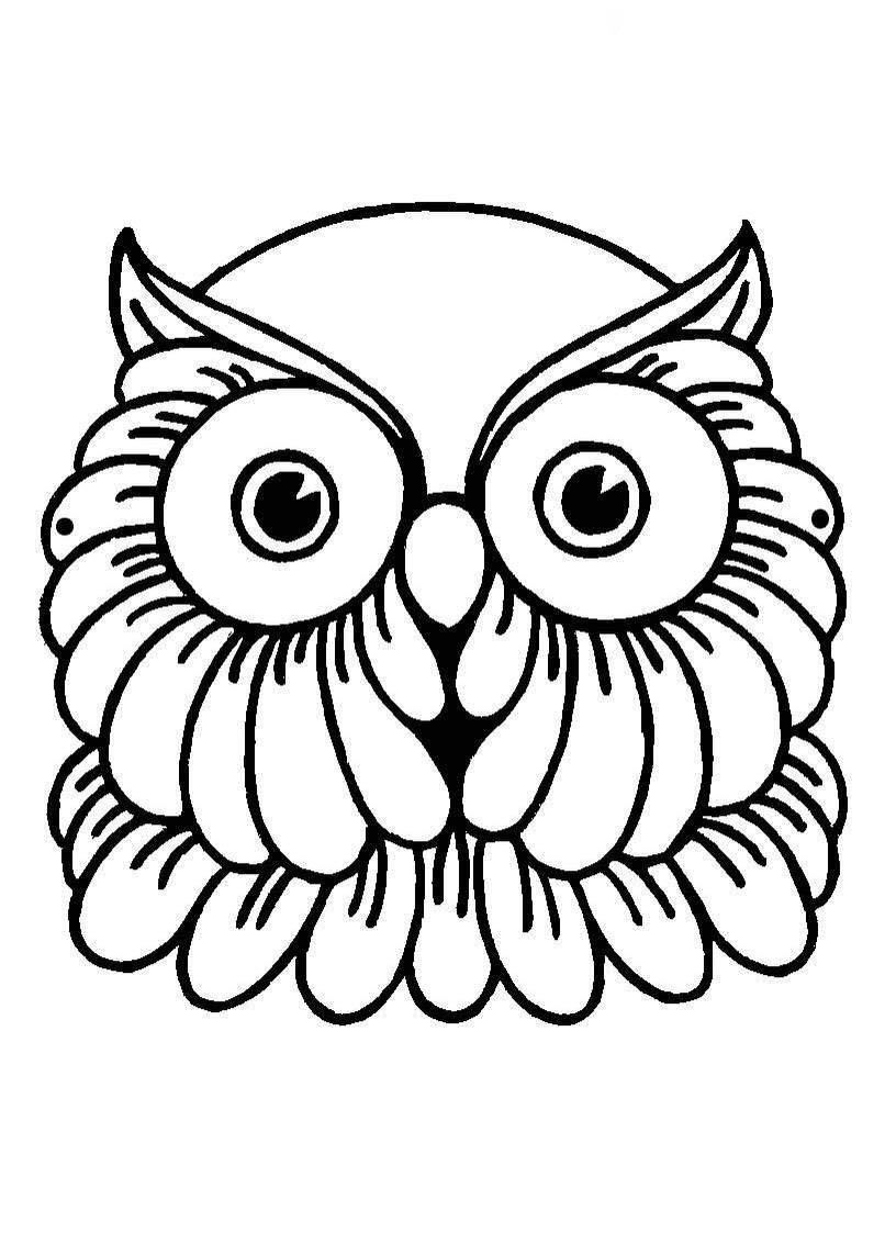 Incrível Desenhos De Corujas Para Imprimir E Colorir