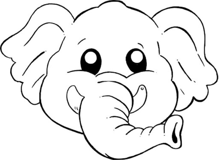 Desenho de m scara bonita de elefante para colorir - Cane da colorare le pagine libero ...