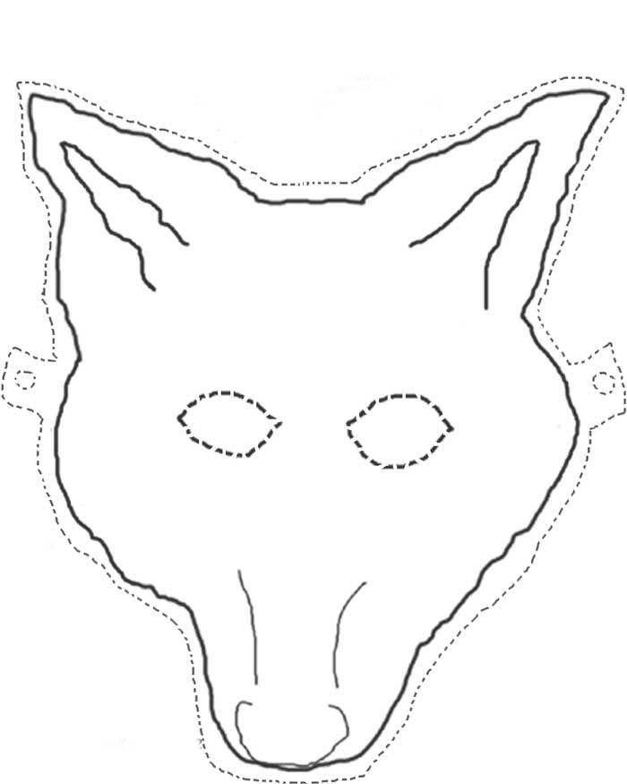 Desenho De Mascara De Lobo Mau Para Colorir Tudodesenhos