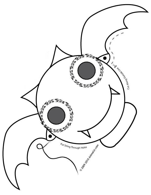 desenho de máscara de morcego para colorir tudodesenhos
