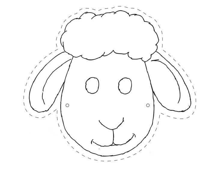 Desenho De Mascara De Carneiro Para Colorir Tudodesenhos