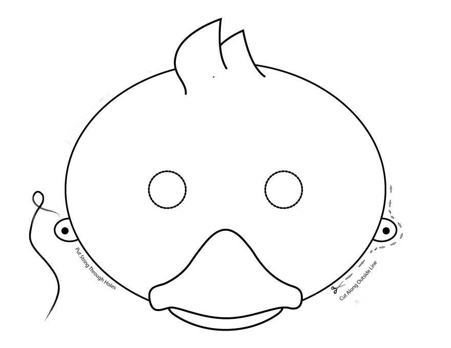 Desenho De Máscara De Pato Para Colorir