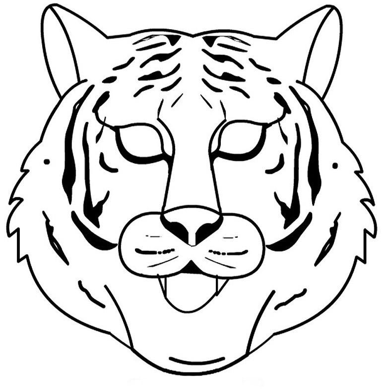 Desenho de m scara de tigre branco para colorir tudodesenhos - Indietro a scuola foglio da colorare ...