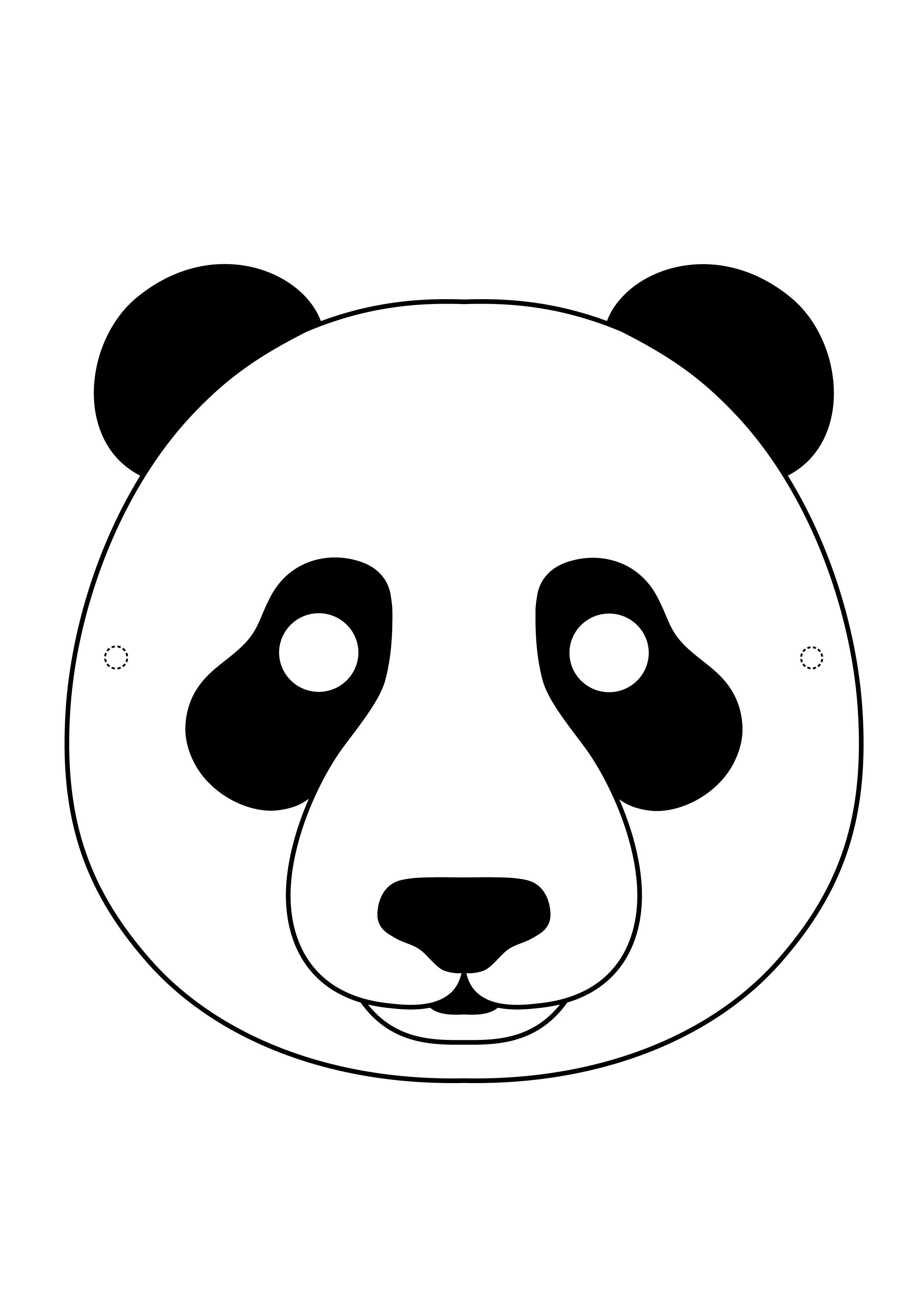 Desenhos De Máscaras De Animais Para Colorir Tudodesenhos
