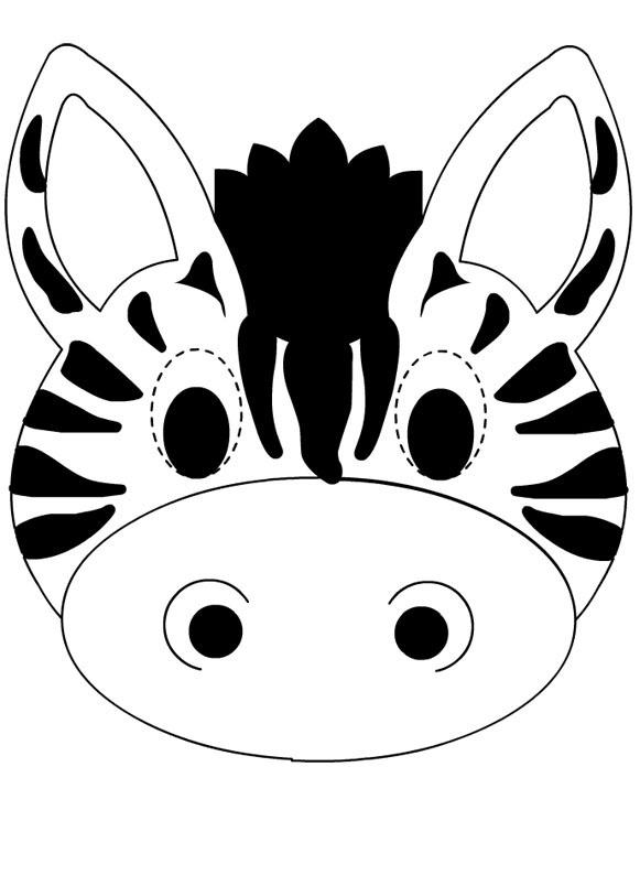 Desenho De Máscara De Zebra Para Colorir Tudodesenhos