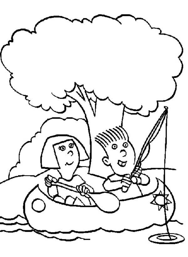 Canoe Paddle Coloring Page Coloring Pages