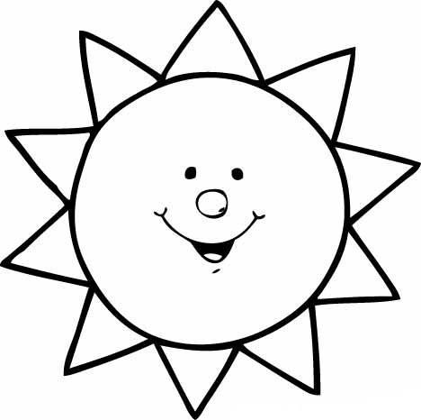 Desenho De Sol Com Sorriso Para Colorir Tudodesenhos