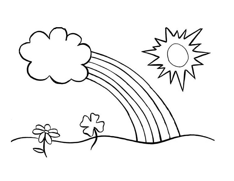 Desenho De Sol E Arco 237 Ris Para Colorir Tudodesenhos