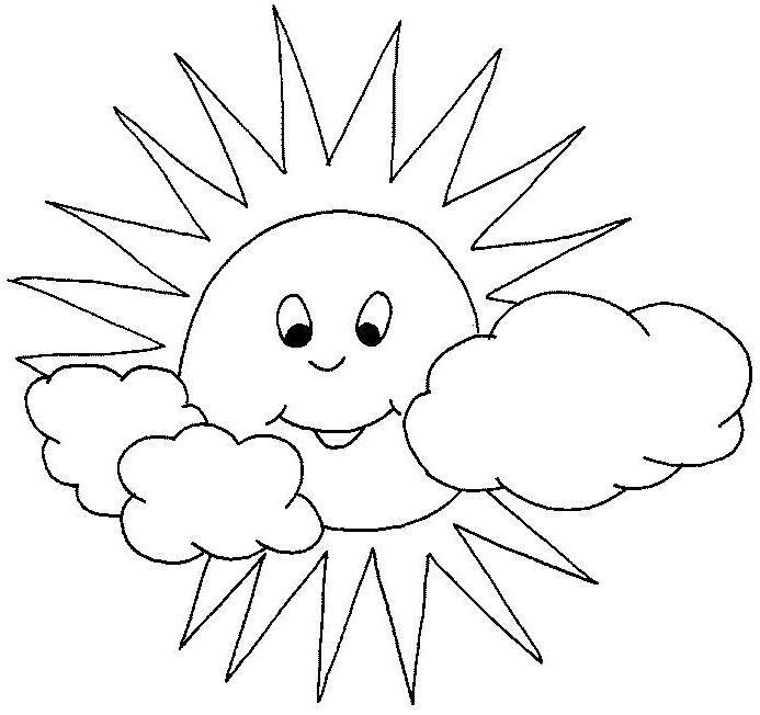 desenho de sol e nuvens para colorir tudodesenhos