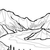 desenhos de lago para colorir tudodesenhos