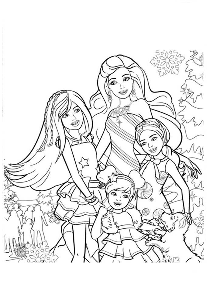 desenho de barbie e suas irmãs skipper stacie e chelsea para