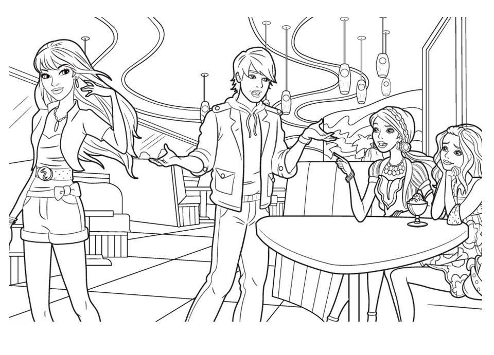 Desenho De Ken Terminando Namoro Com Barbie Para Colorir