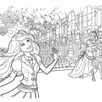 Desenhos De Barbie Escola De Princesas Para Colorir Tudodesenhos