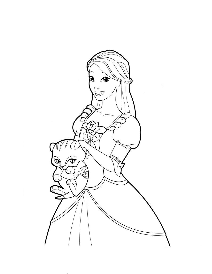 Desenho De Genevieve A Barbie Bailarina Para Colorir