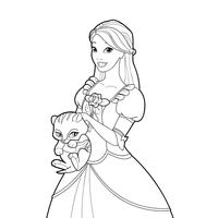 desenhos de barbie e as doze princesas bailarinas para colorir
