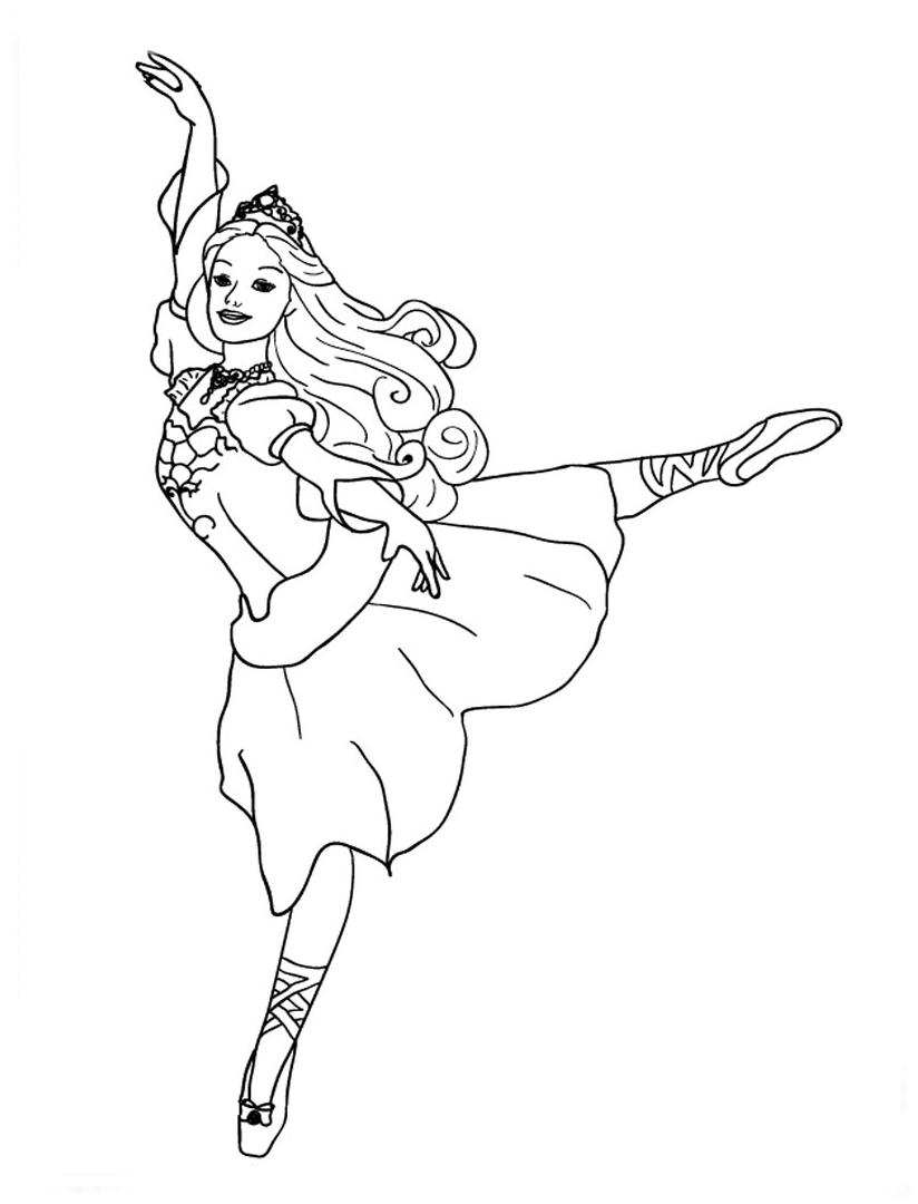 Desenho De Barbie Bailarina Fazendo Passos De Balé Para