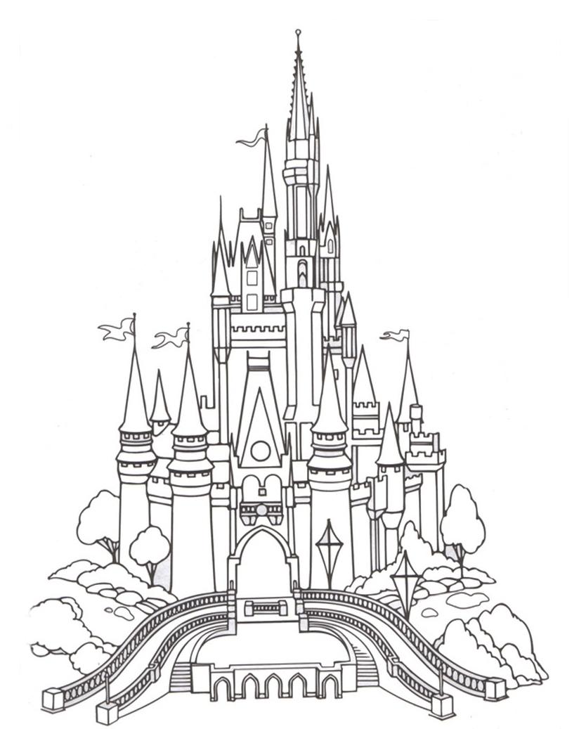desenho de castelo de diamante para colorir tudodesenhos