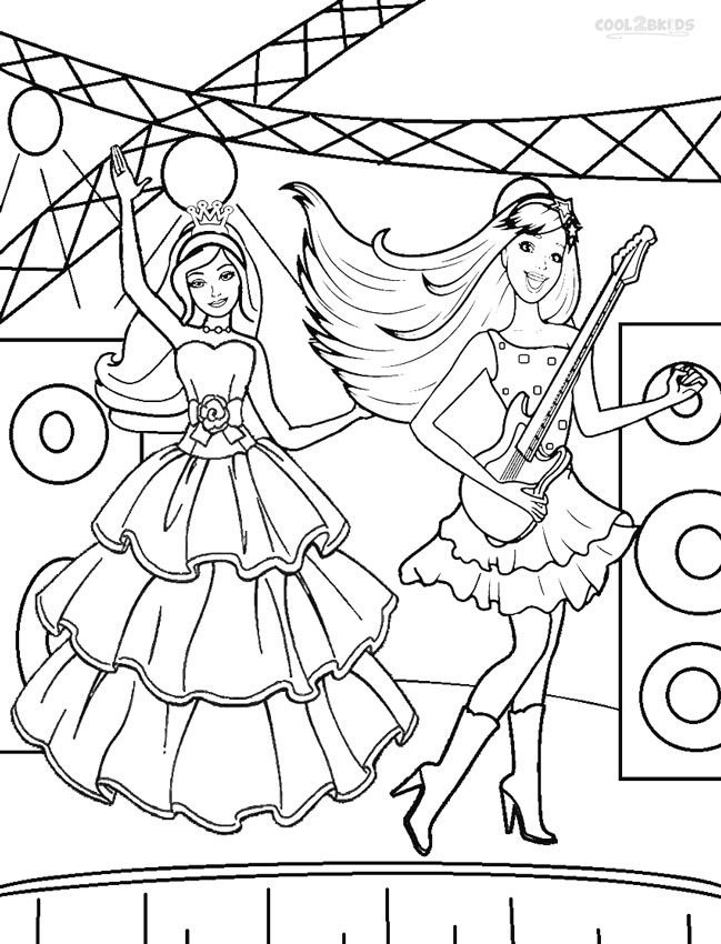 Keira and Seymour Crider Barbie coloring page. More Barbie the ... | 850x649