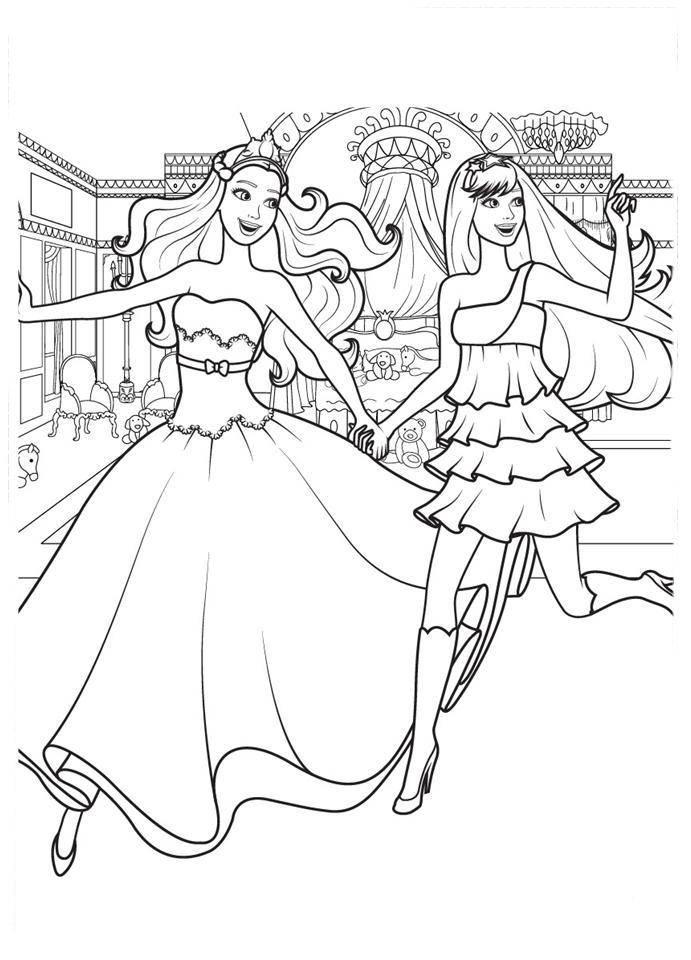 desenho de amigas barbie e keira para colorir tudodesenhos