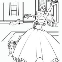 Desenhos De Barbie A Princesa E Pop Star Para Colorir