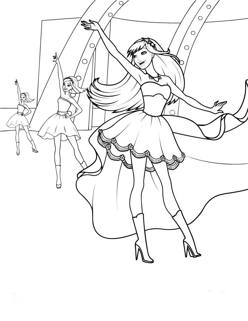 Desenho De Keira Pop Star Ensaiando Para Colorir Tudodesenhos