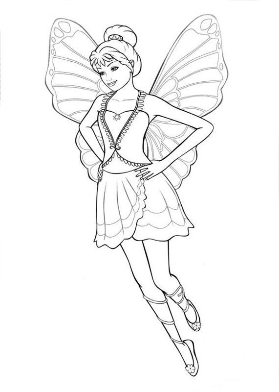 Desenho De Princesa Das Fadas Voando Para Colorir Tudodesenhos