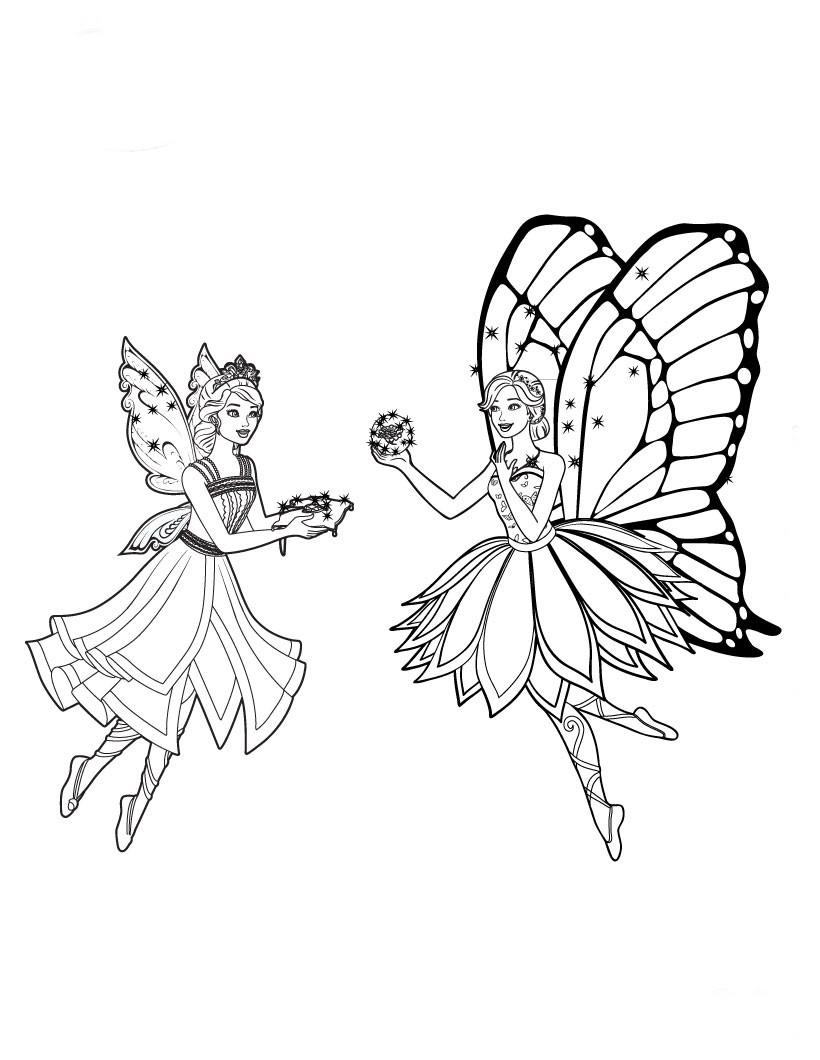 Desenhos De Barbie Butterfly Para Colorir Tudodesenhos