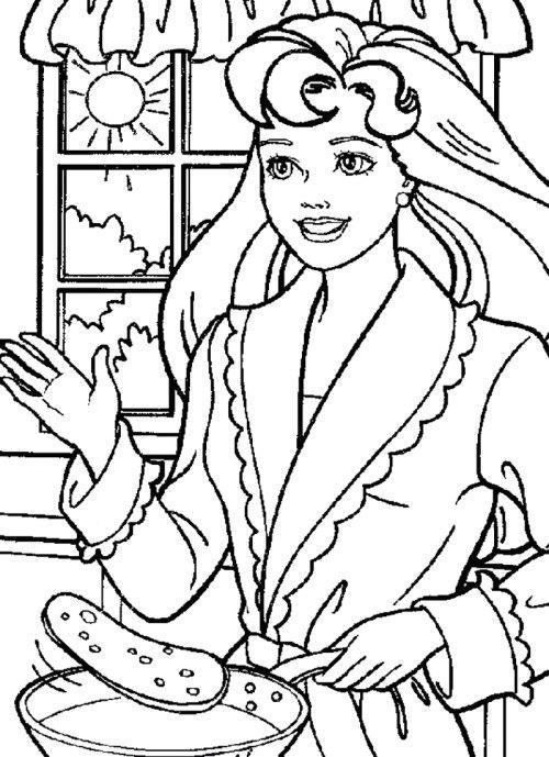 Desenho De Barbie Cozinheira Para Colorir Tudodesenhos