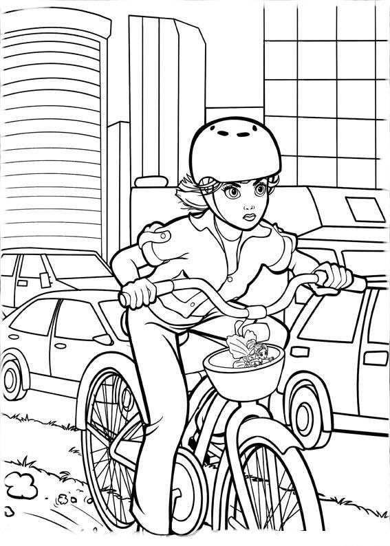 Desenho De Bicicleta Da Barbie Para Colorir Tudodesenhos