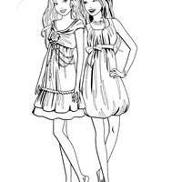 desenho de barbie e amiga nas compras para colorir tudodesenhos
