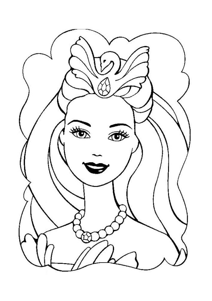 Desenho De Barbie Com Maquiagem Para Colorir Tudodesenhos