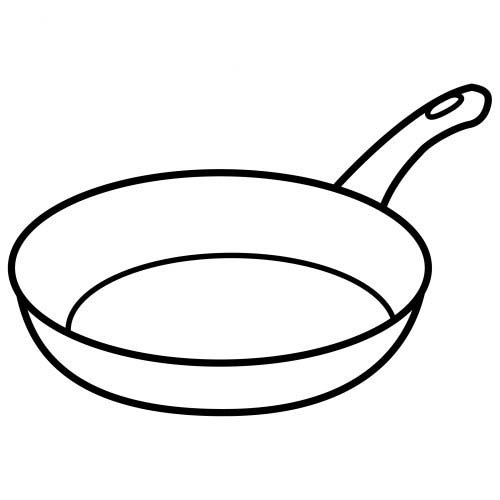 Frying Pan Coloring Coloring Pages Pan Coloring Page