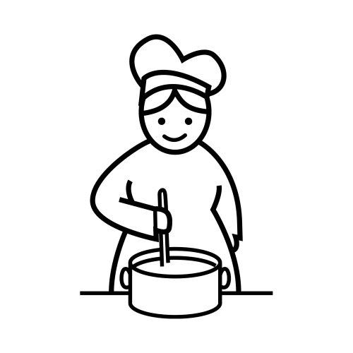 Desenho de mulher mexendo panela para colorir tudodesenhos - Dibujos de cocina ...