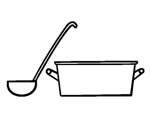 Desenho De Panela E Cozinha Para Colorir Tudodesenhos
