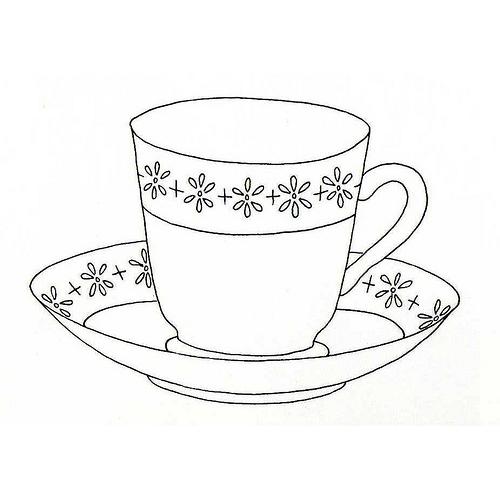 Desenho De Xicara De Porcelana Para Colorir Tudodesenhos