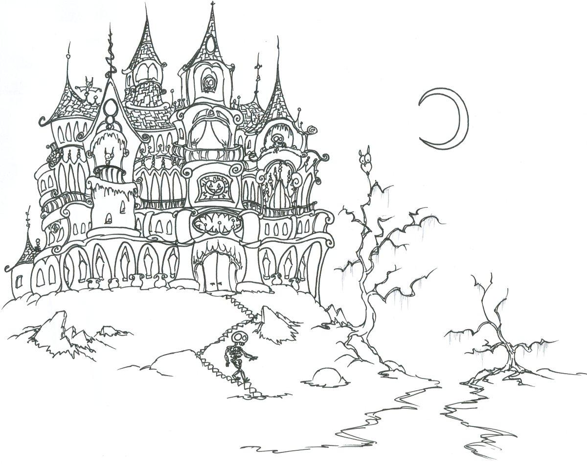Desenho De Castelo Mal Assombrado Para Colorir Tudodesenhos